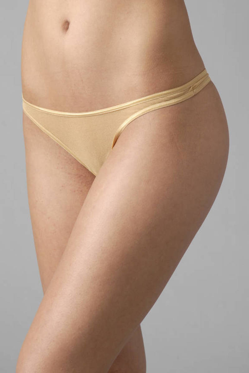 Soire Packaged Low Rider Thong in Nude