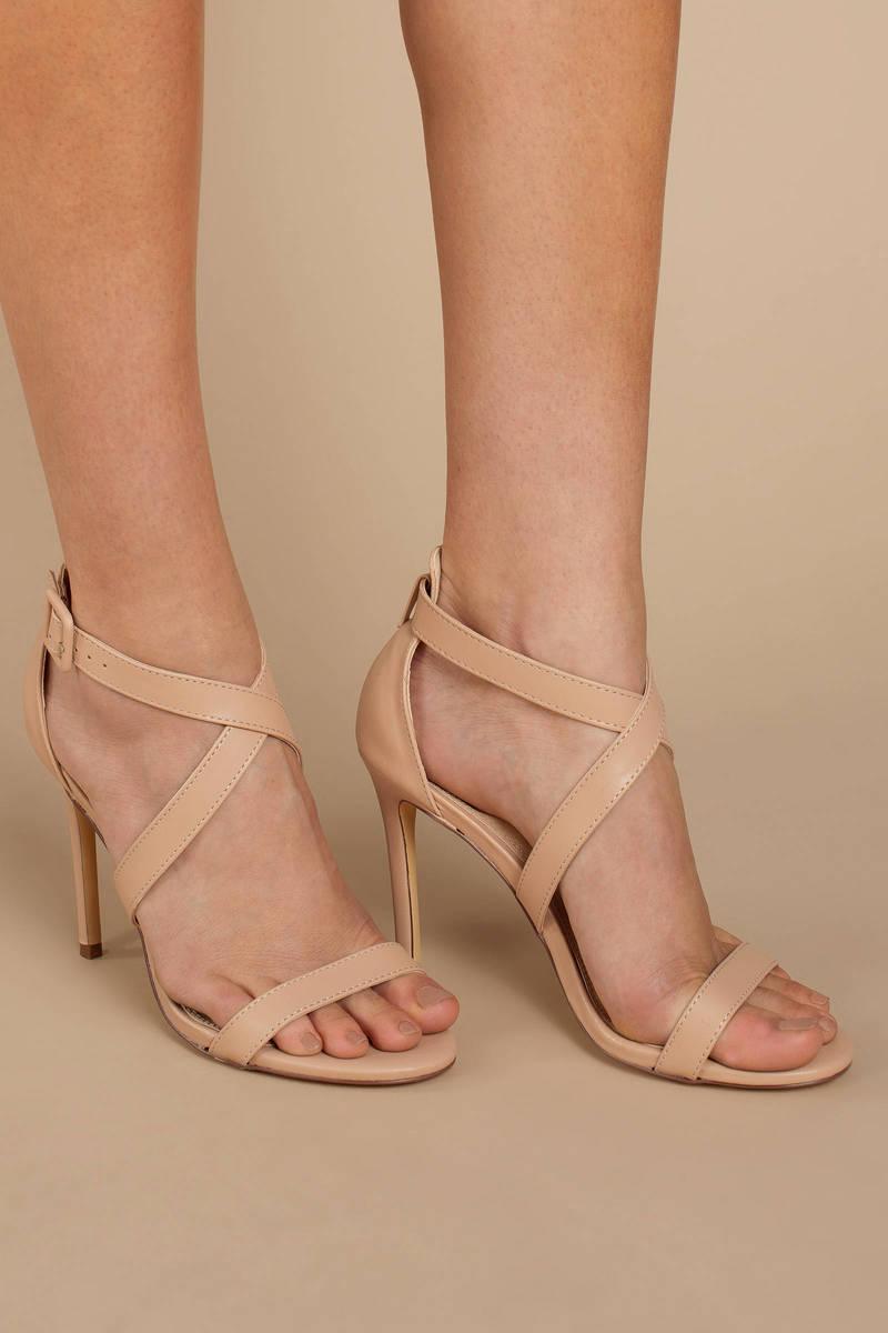 Nude Heels Strappy Heels Nude Open Toe Heels Sandal Heels 682 Kr Tobi Se