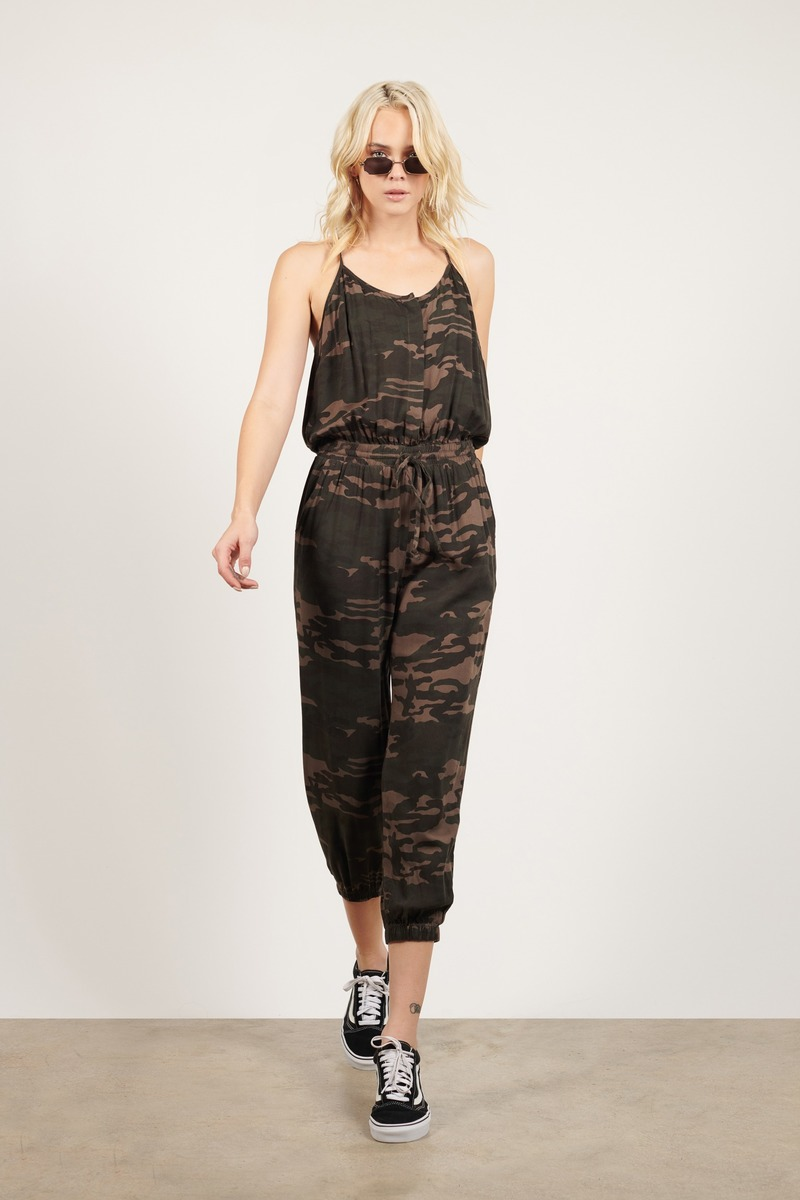 be10442f47eba Green Jumpsuit - Loungewear Jumpsuit - Green Camo Jumpsuit - $92 ...