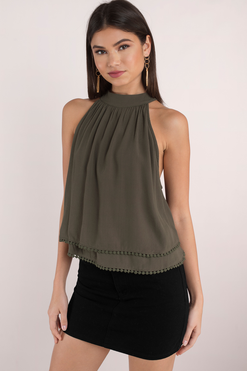 All Dolled Up Terracotta Sleeveless Top