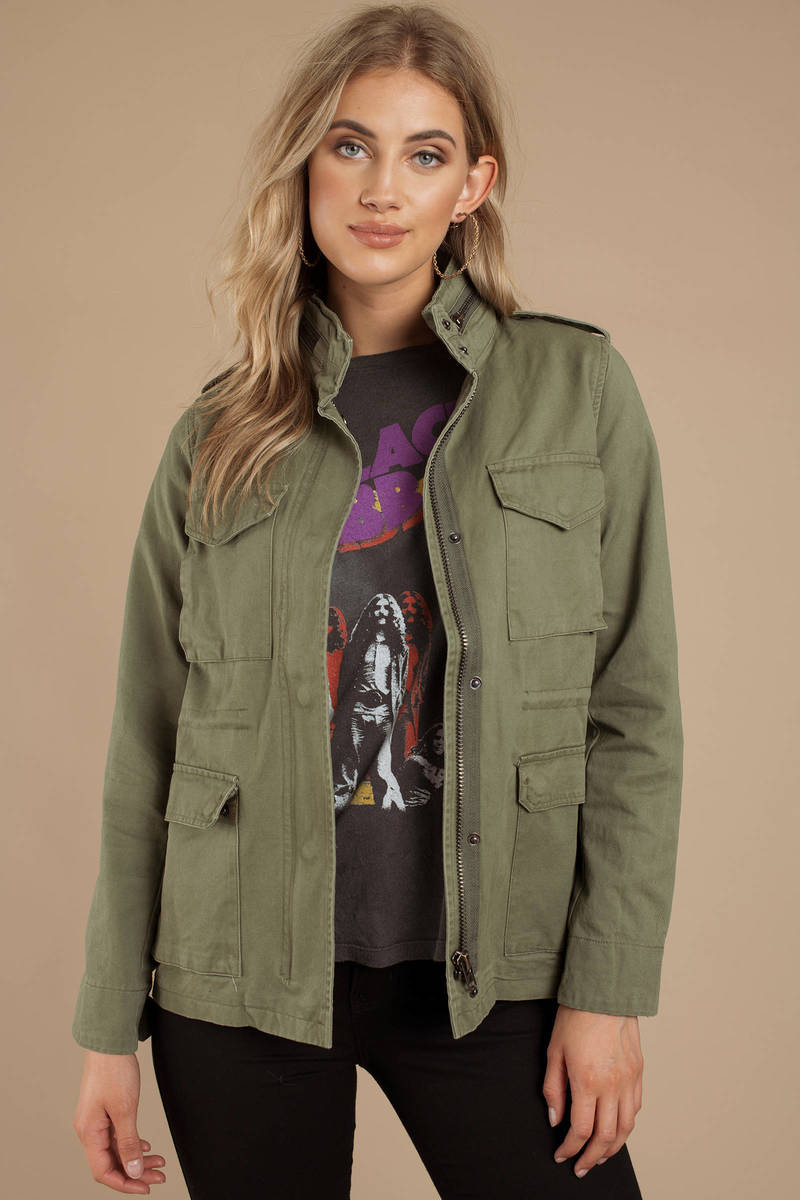 Olive Green Utility Jacket Green Army Jacket Olive Colored