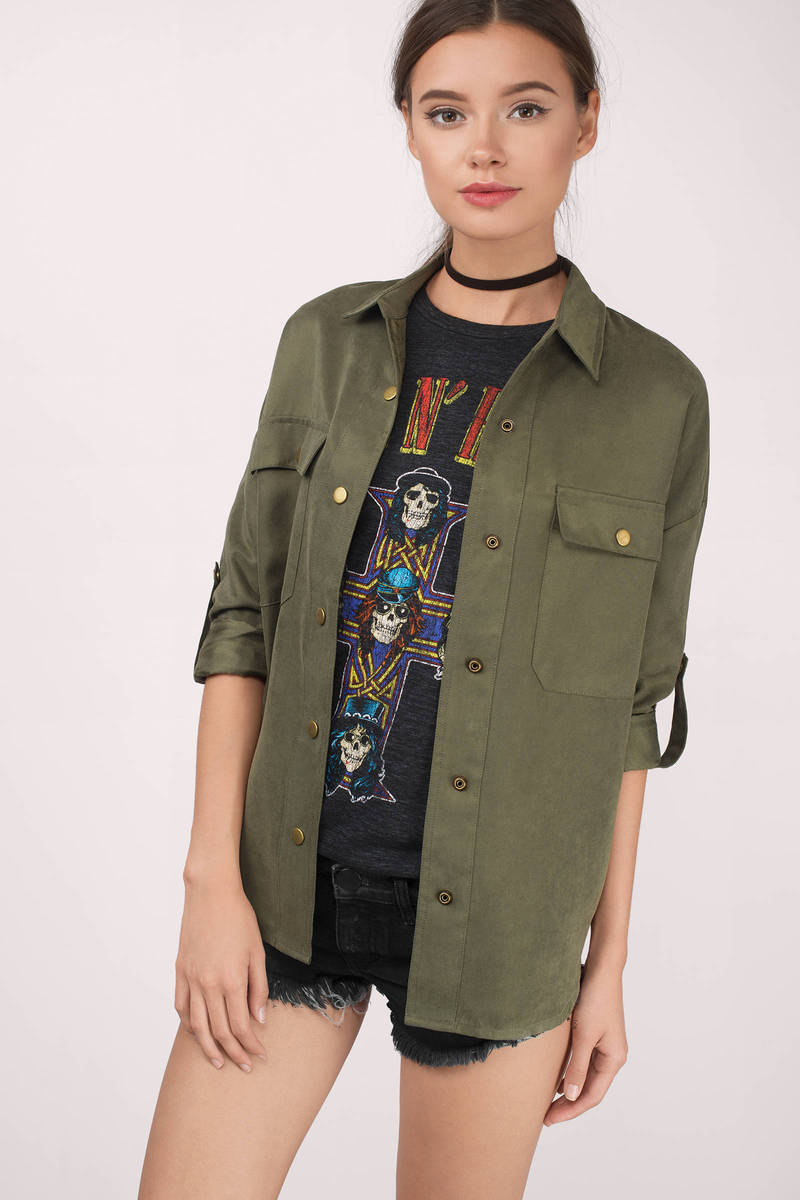 Beatrize Olive Blouse