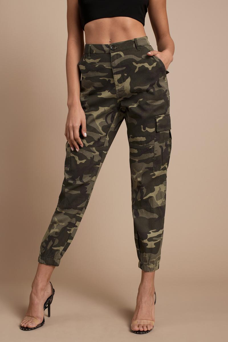 Chic Green Pants - Camo Pants - Green Cargo Pants - Army Joggers ... d852560e2