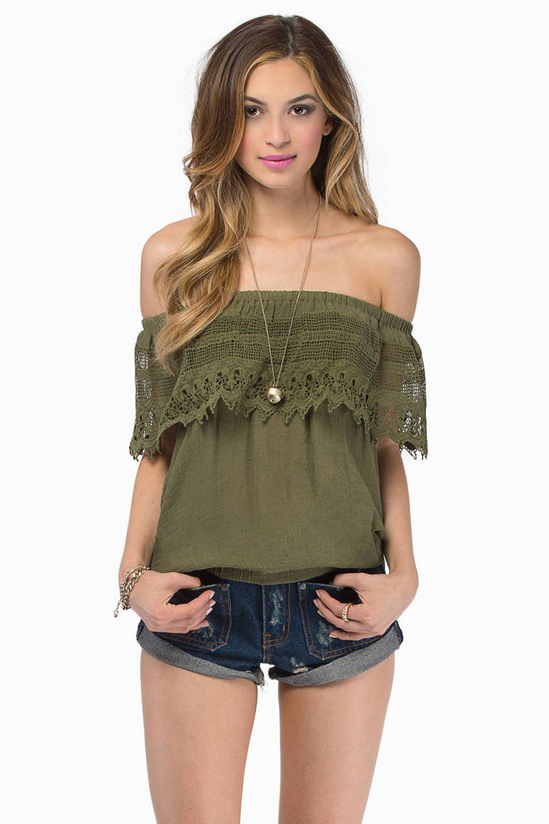 Carrie Olive Blouse