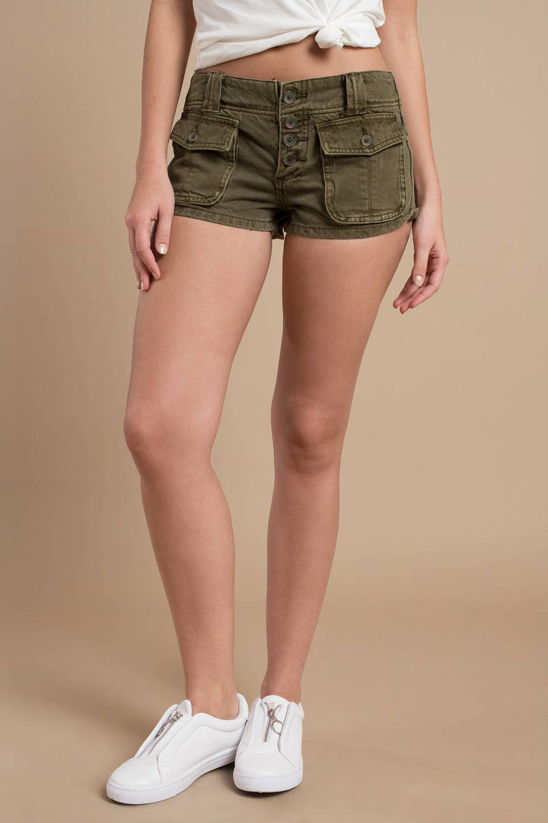 c0c4e251a368 Green Free People Shorts - Button Up Short - Green Short Shorts ...