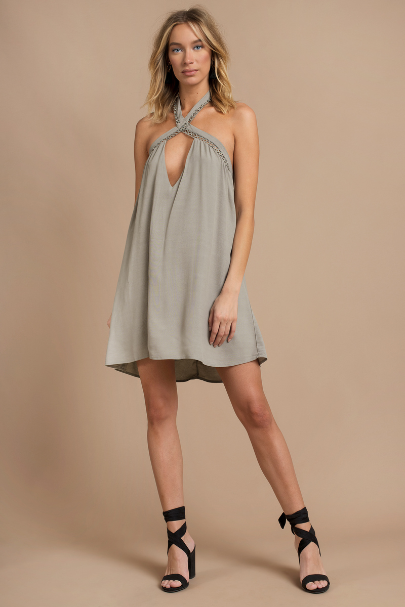 Cross My Heart Olive Shift Dress