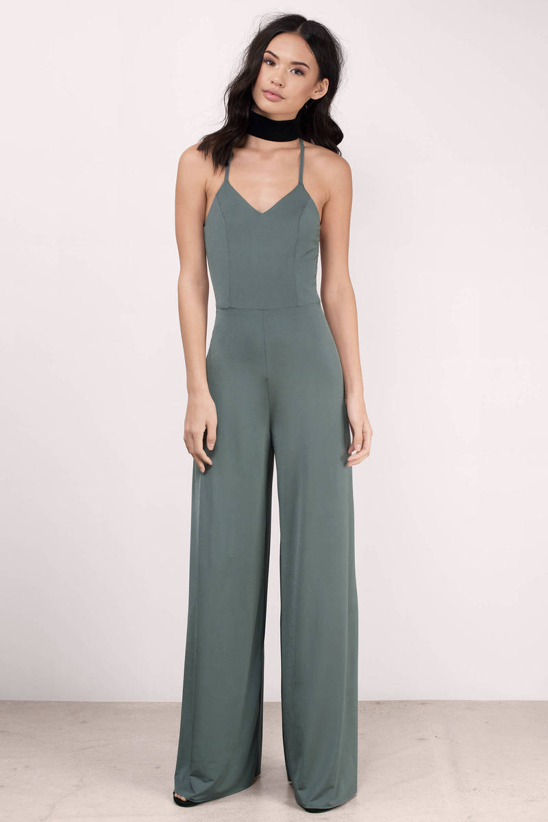 Dangerous Woman Olive Jersey Knit Jumpsuit