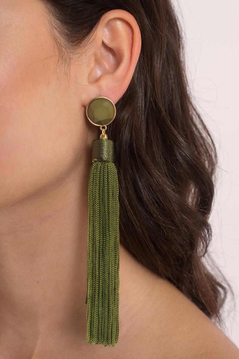 Delilah Olive Tel Earrings