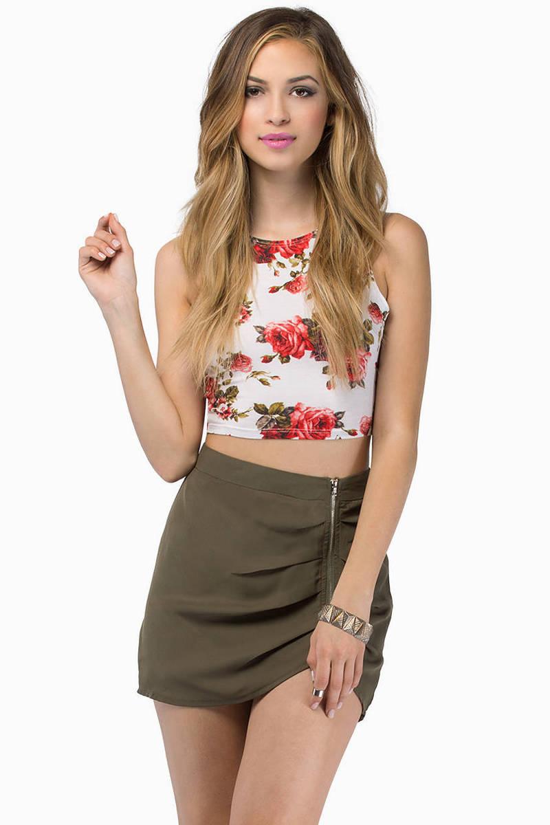 Exposed Mini Skirt