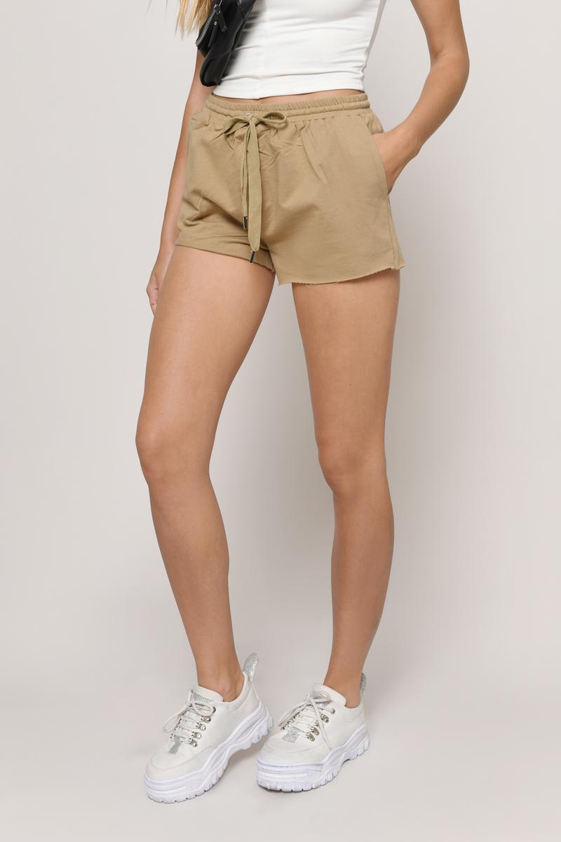 Hannah Olive Drawstring Shorts