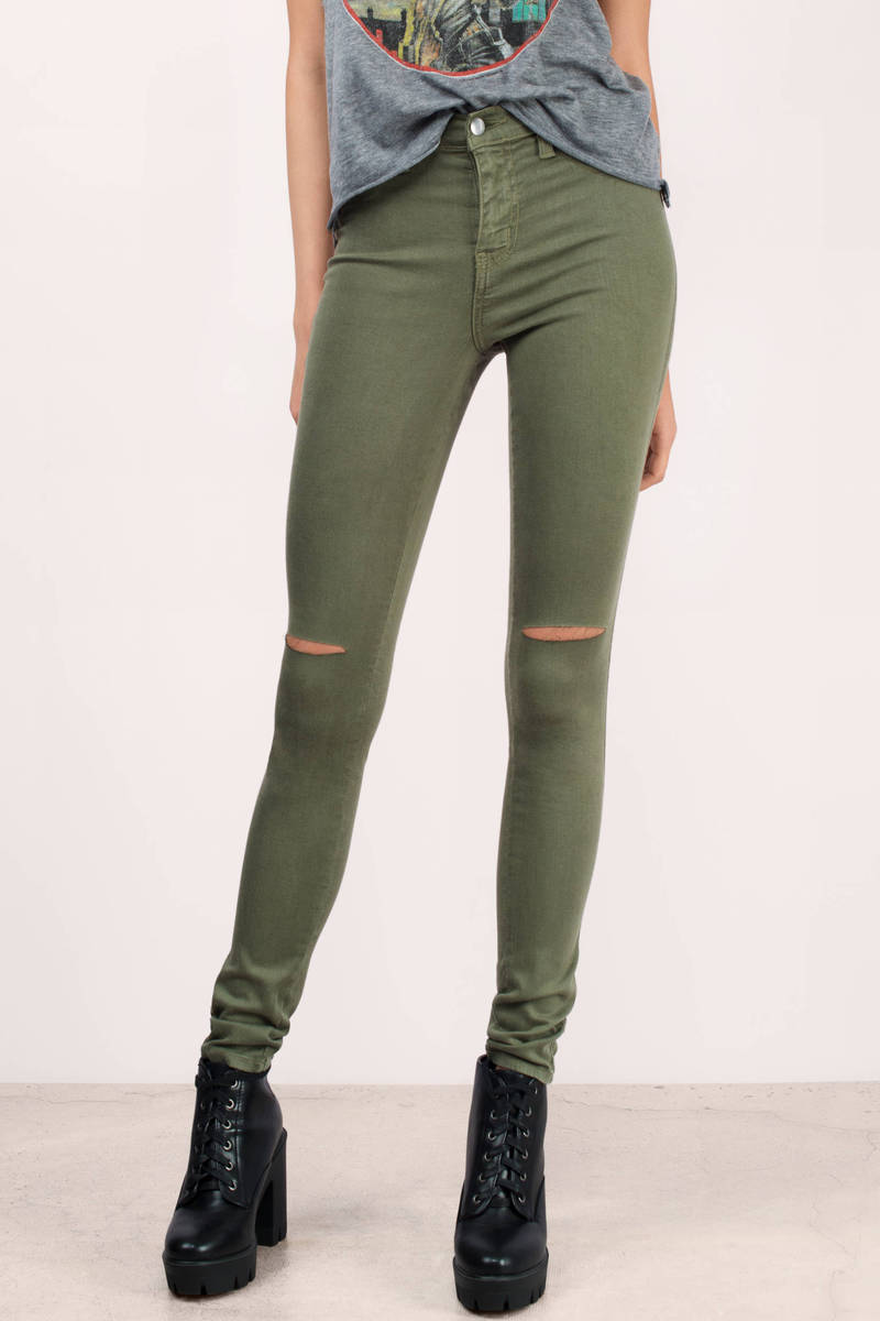 Jourdanna Wine Denim Skinny Jeans