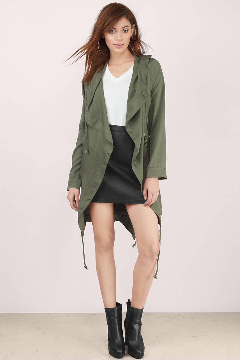 ii draped product jacket haider collar a v drapes n with green leather ackermann
