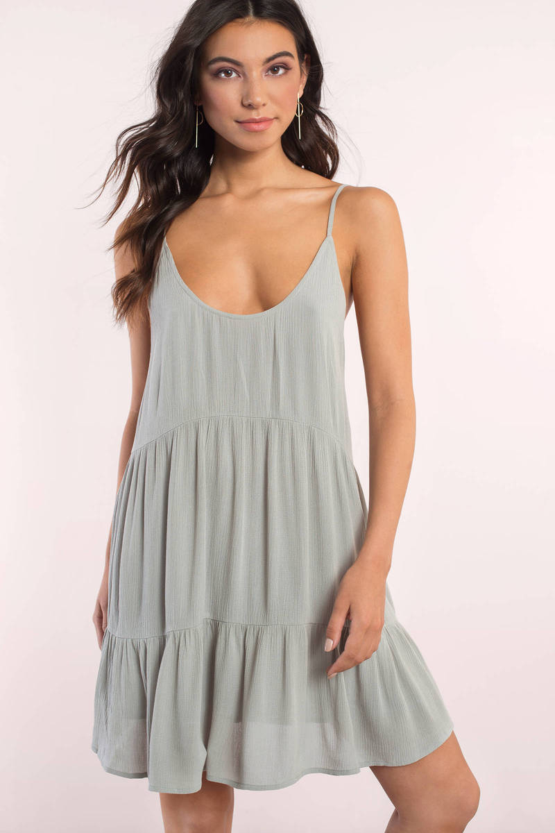 Love Game Olive Shift Dress