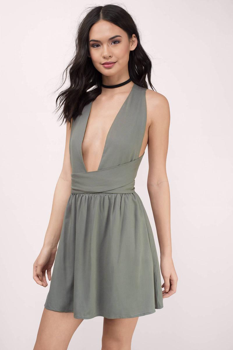 Sexy plunge dresses