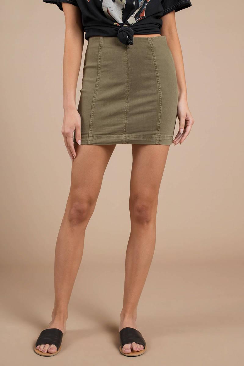 3c57aa66e Free People Modern Femme Stone Denim Skirt - $25   Tobi US