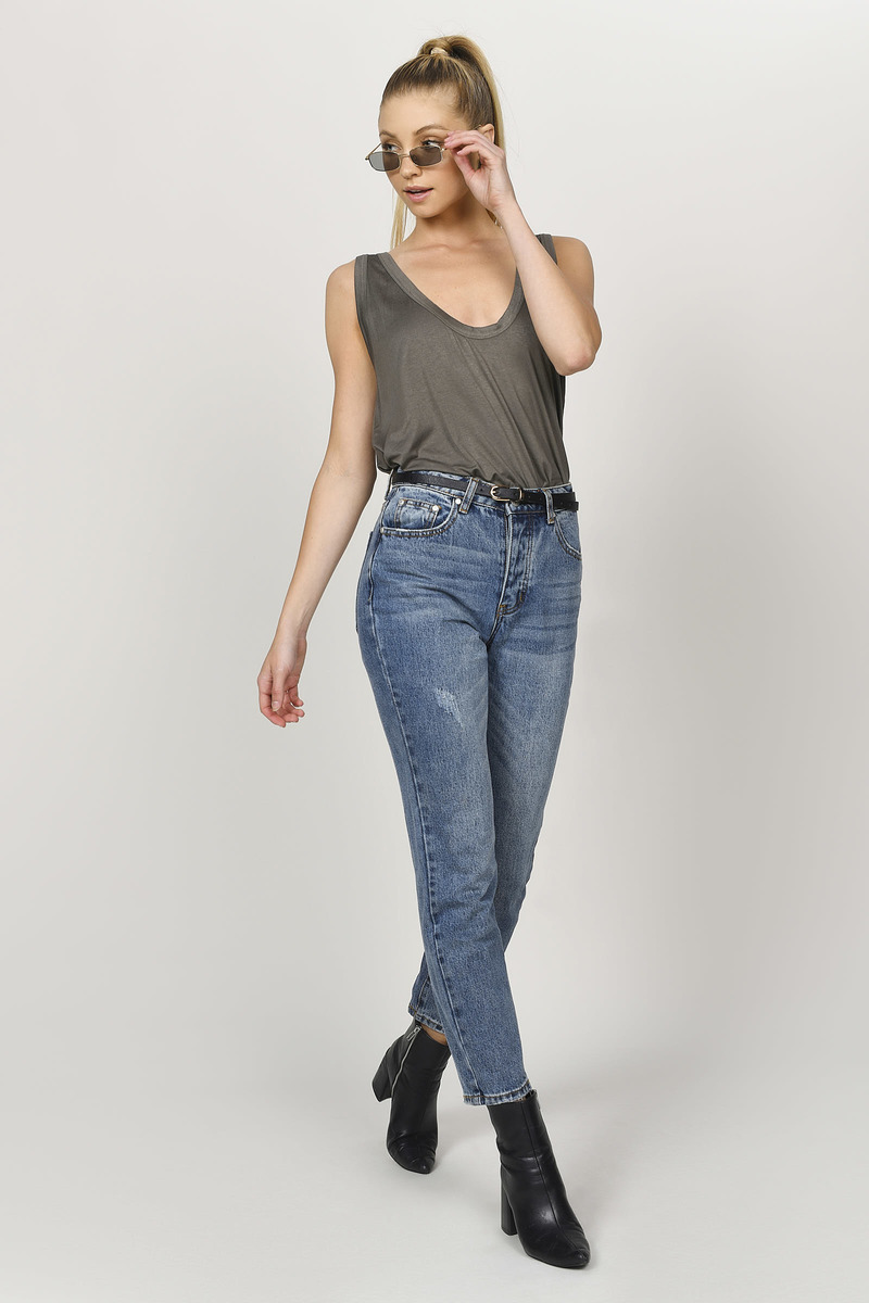 Sexy Olive Tank Top - Low Scoop Top - Olive Top - Olive Tank -  24 ... 5919b4b02