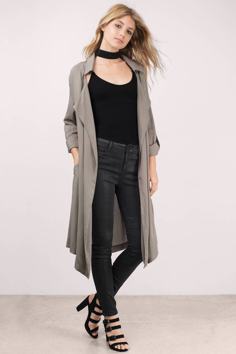 Monsoon Olive Trench Jacket
