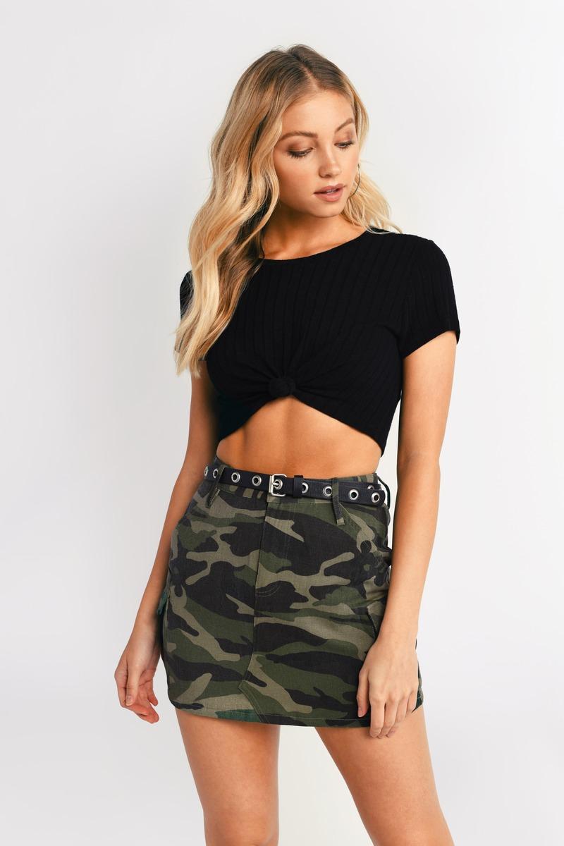 b641014451aa1 Green Utility Skirt - Camo Denim Skirt - Green Camo Mini Skirt - $76 ...
