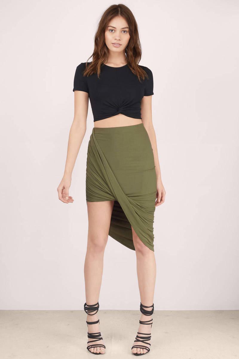 Sexy Black Skirt - Wrap Skirt - Bodycon Skirt