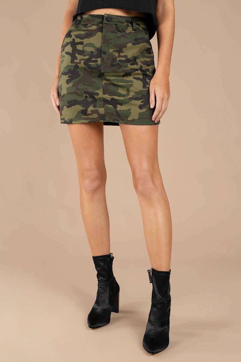 0751dc929d5 Green Skirt - Camo Skirt - Green Camouflage Mini Skirt - Short Skirt ...