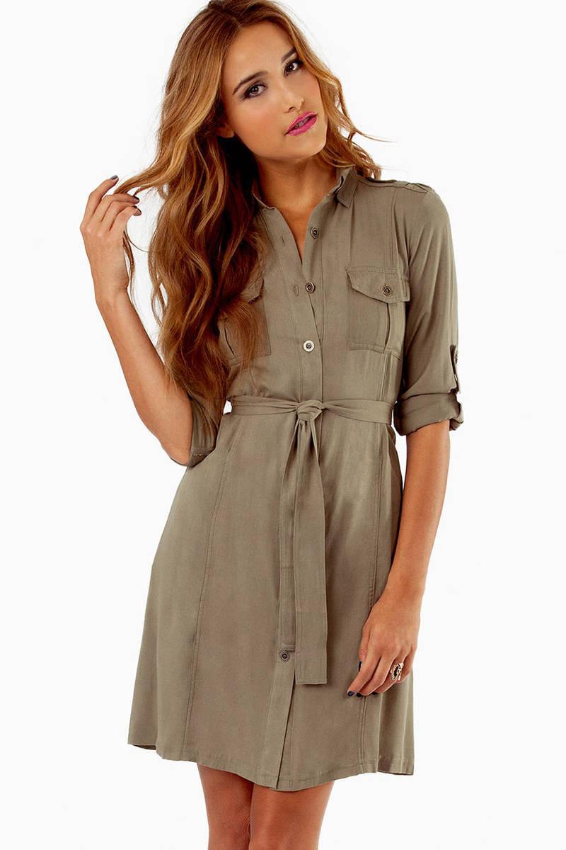 On the Button Shirt Dress