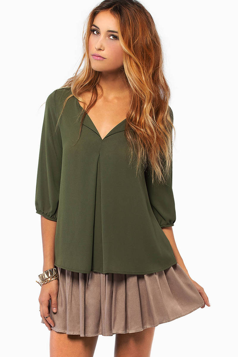 Ornate Folds Blouse