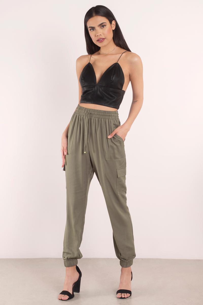 161e370b9 Cute Olive Pants - Jogger Pants - Woven Pants - Olive Joggers -  22 ...