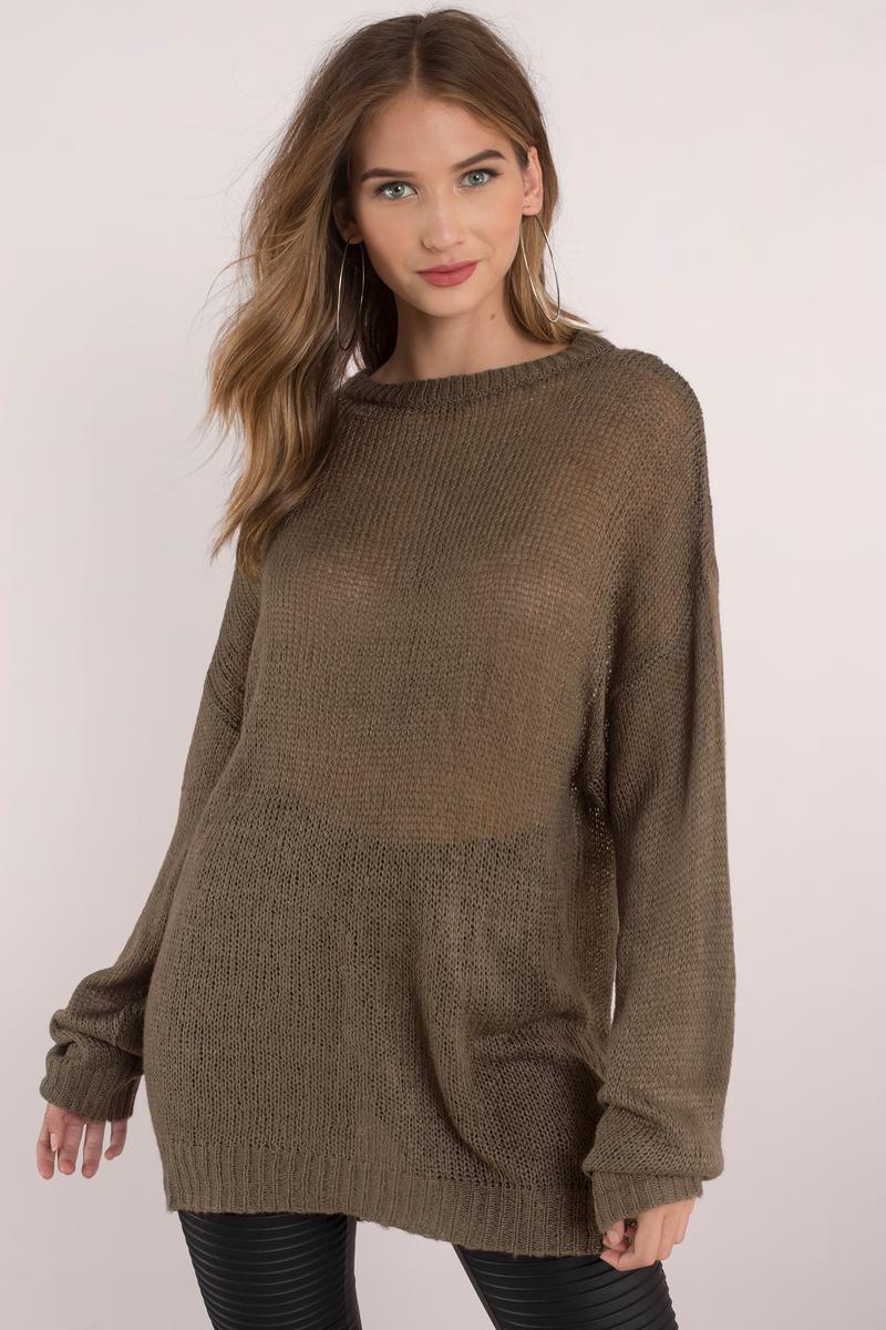 Penelope Light Grey Sweater - $52 | Tobi US