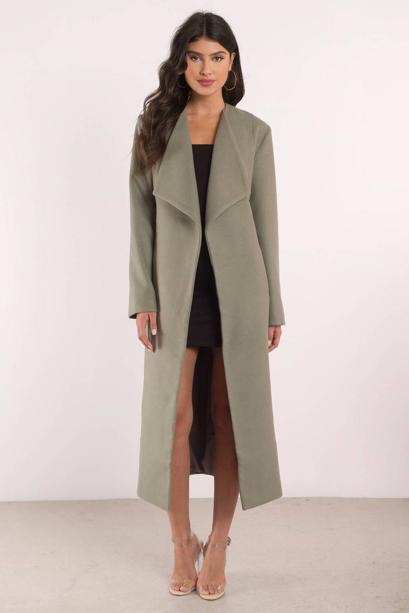 Finders Keepers Finders Keepers Pyramids Olive Trench Coat