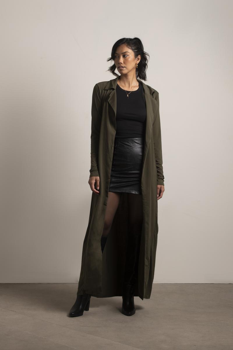 Black Long Lace Kimono SM Cardigan Size 6 (S)
