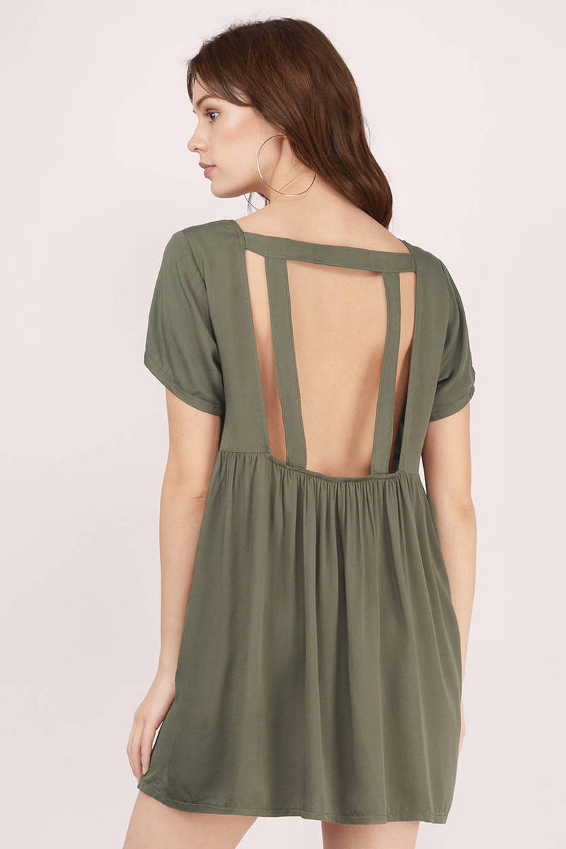 Solid Love Olive Day Dress