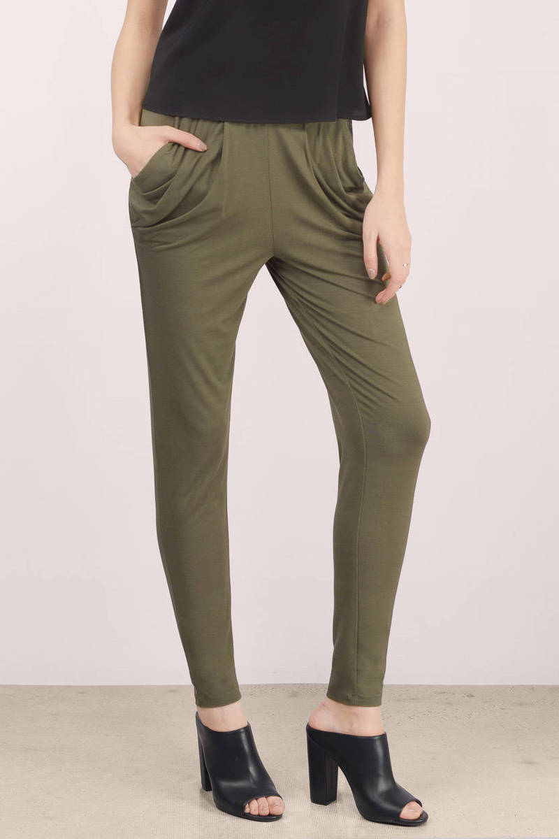 Harem Pants and Joggers for Women. Harem pants and joggers are the definition of effortless dressing. They're comfortable and cool, yet perfectly polished.