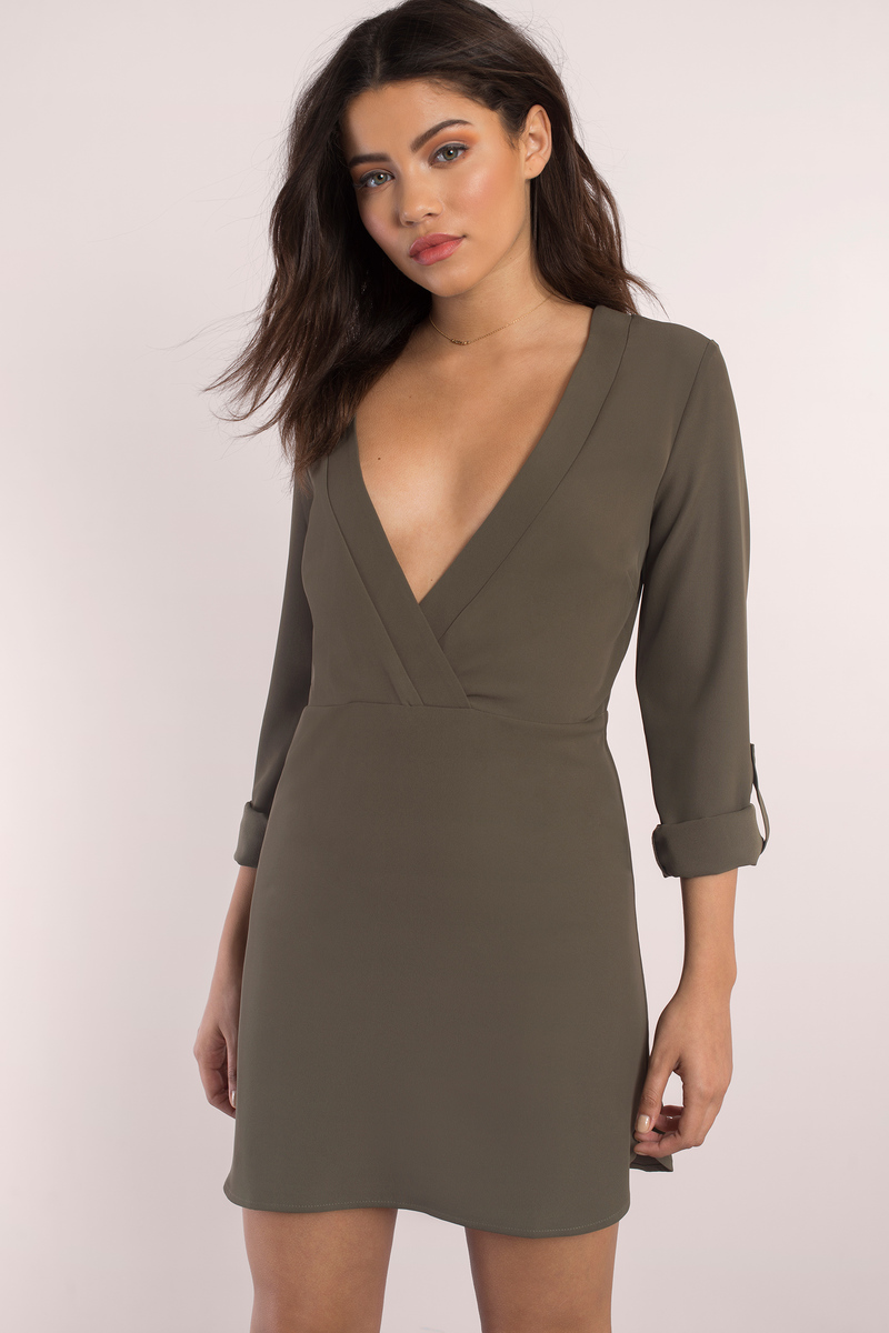 Take Your Time Olive Shift Dress
