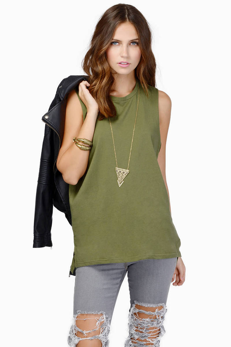 Tank It Over Olive Tank Top