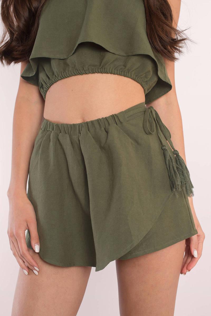 Tanya Olive Shorts