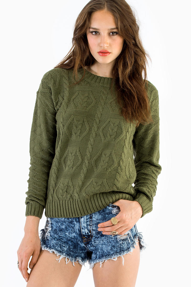 Textured Message Sweater