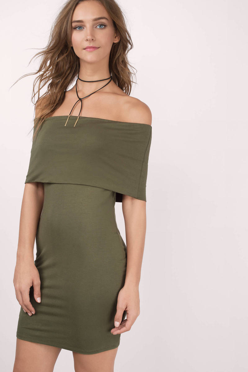 Tilly Olive Tier Dress