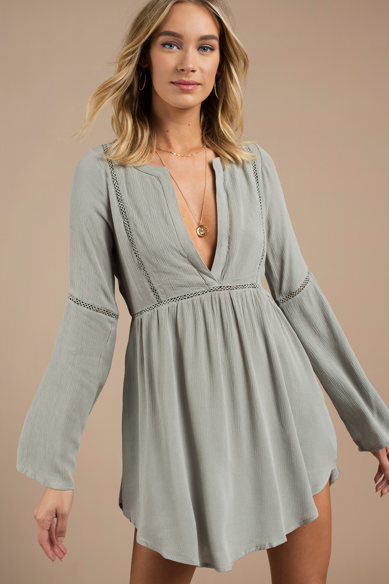 Trina White Plunging Shift Dress