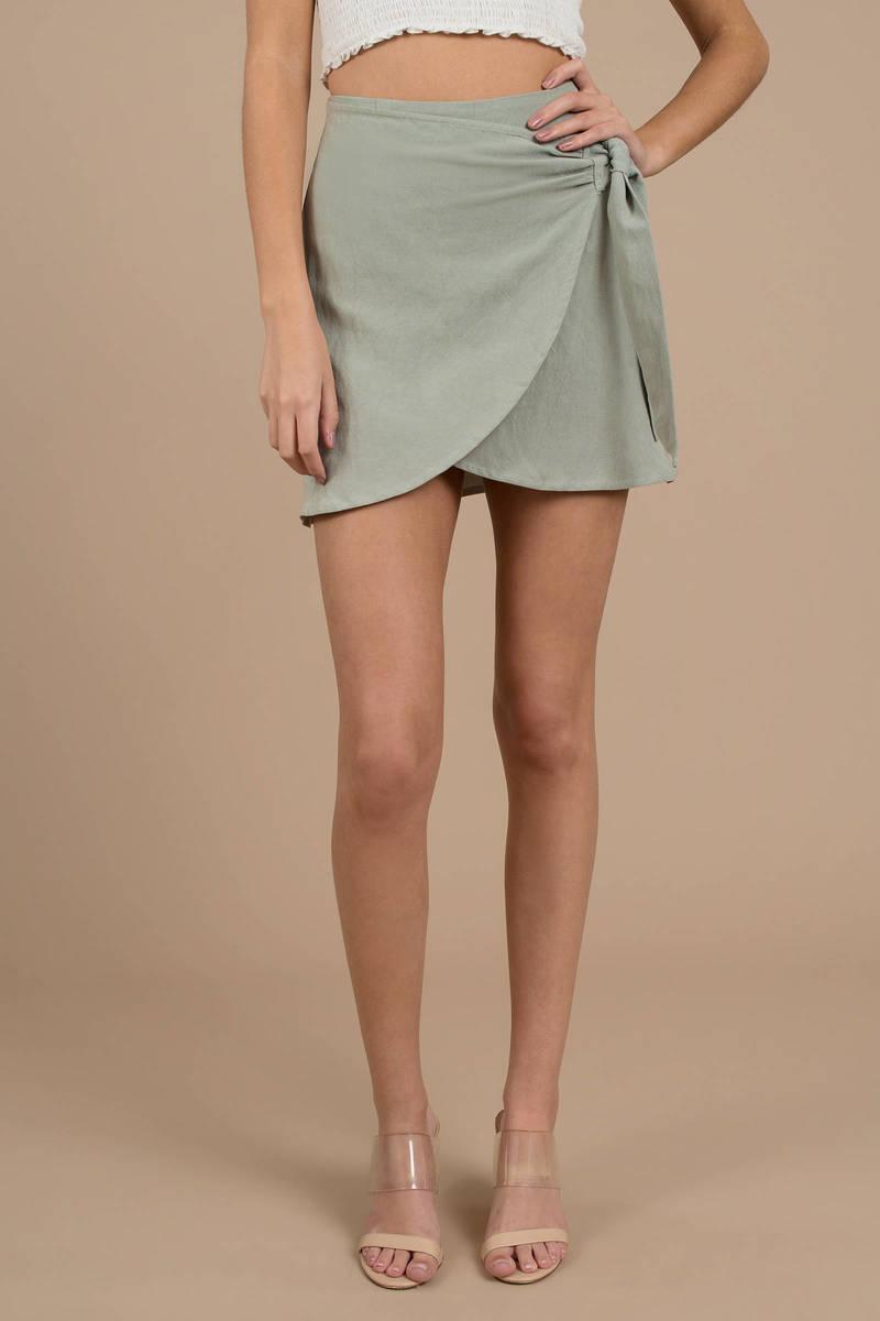 e749c55b36 Trinity Olive Wrap Skirt - $60 | Tobi US