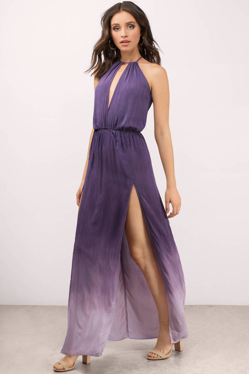 Blue Life Carry On Ombre Wild Orchid Maxi Dress
