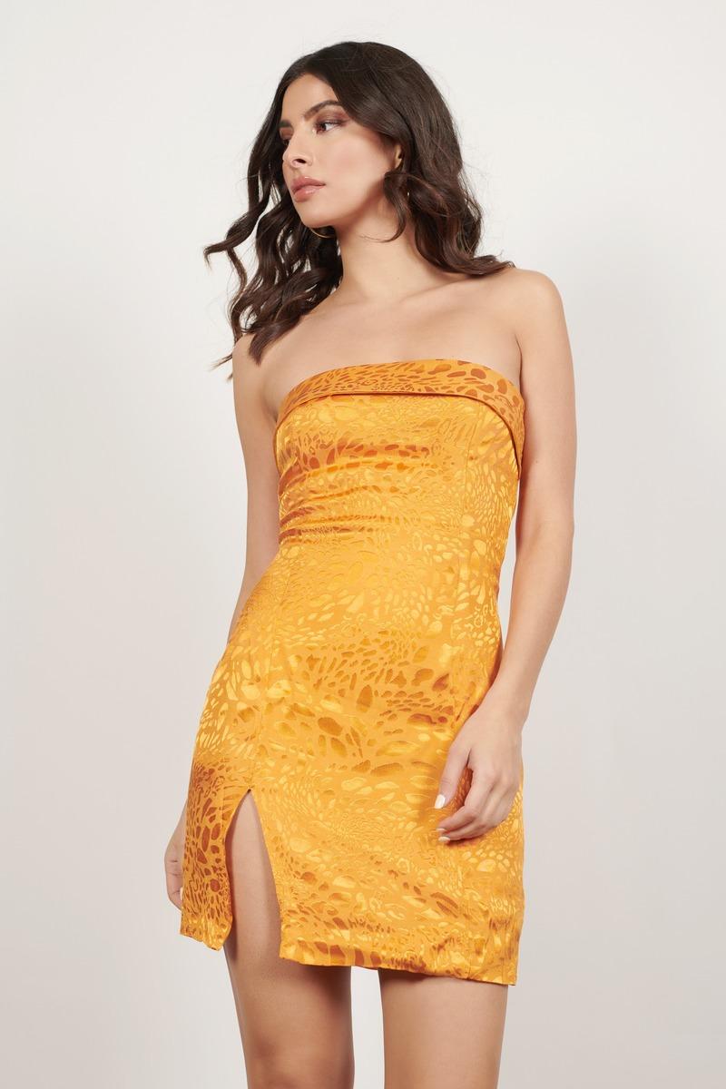 Leopard Print Strapless Bodycon Dress