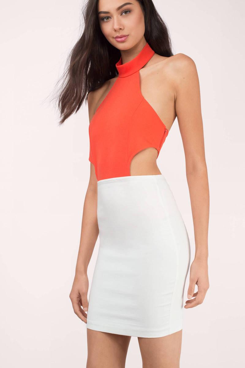 Ami Orange Bodysuit