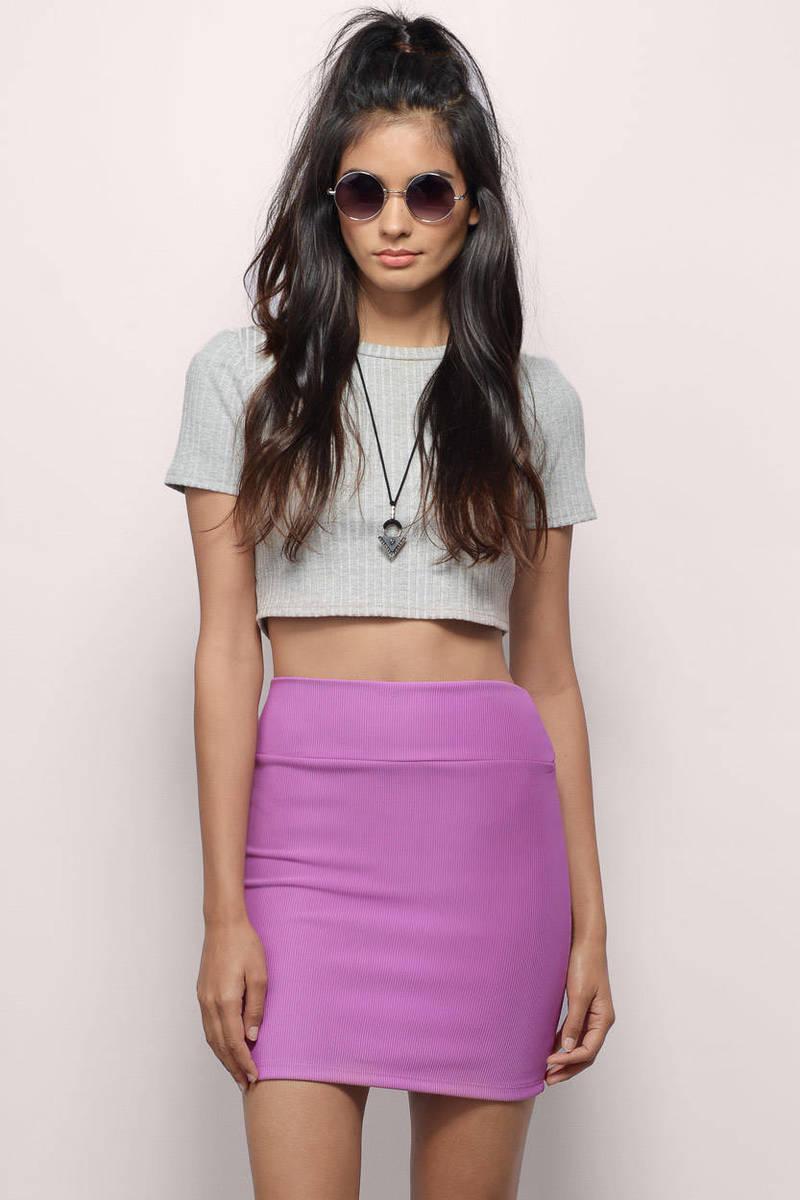 Keepin' It Simple Orchid Mini Skirt