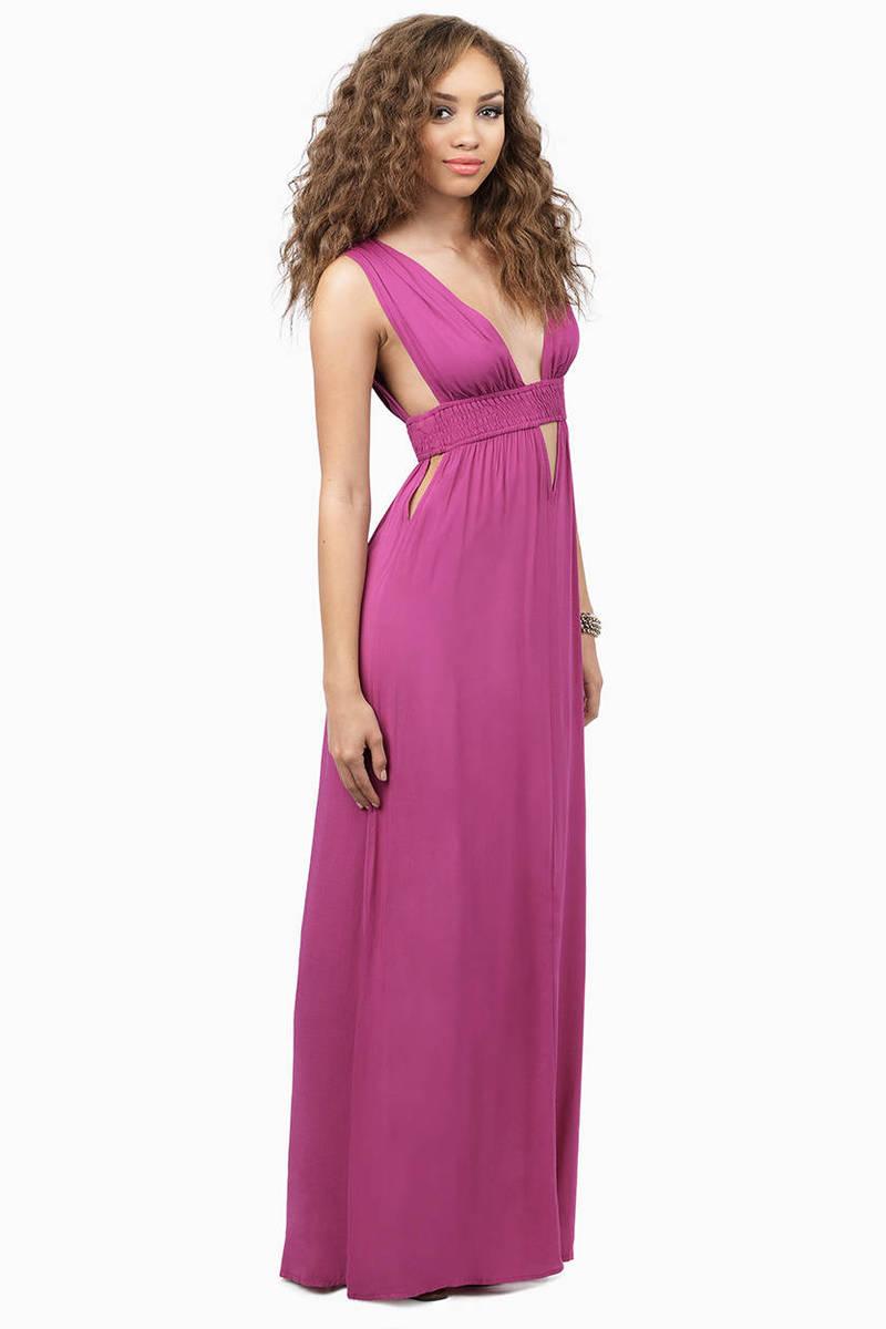 Mykonos Orchid Maxi Dress