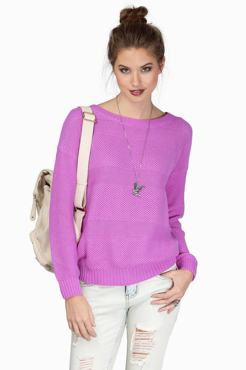 Orchid Sweater - Boat Neck Sweater - Orchid Knit Sweater - $13 ...