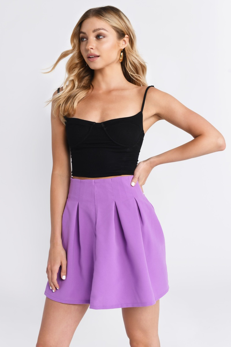 skirt sweet skirts tobi pleats orchid purple bottoms tap tight mini pencil circle pleated double zoom