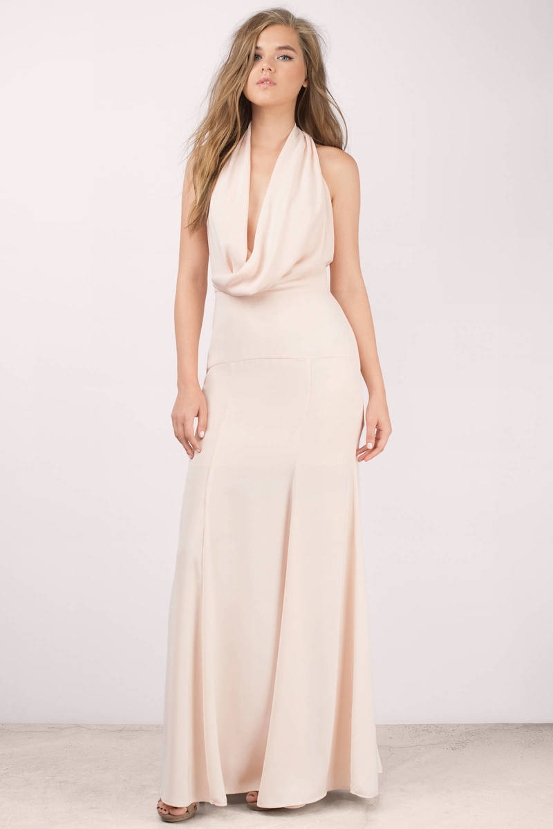 Keepsake Keepsake Escape Peach Maxi Dress