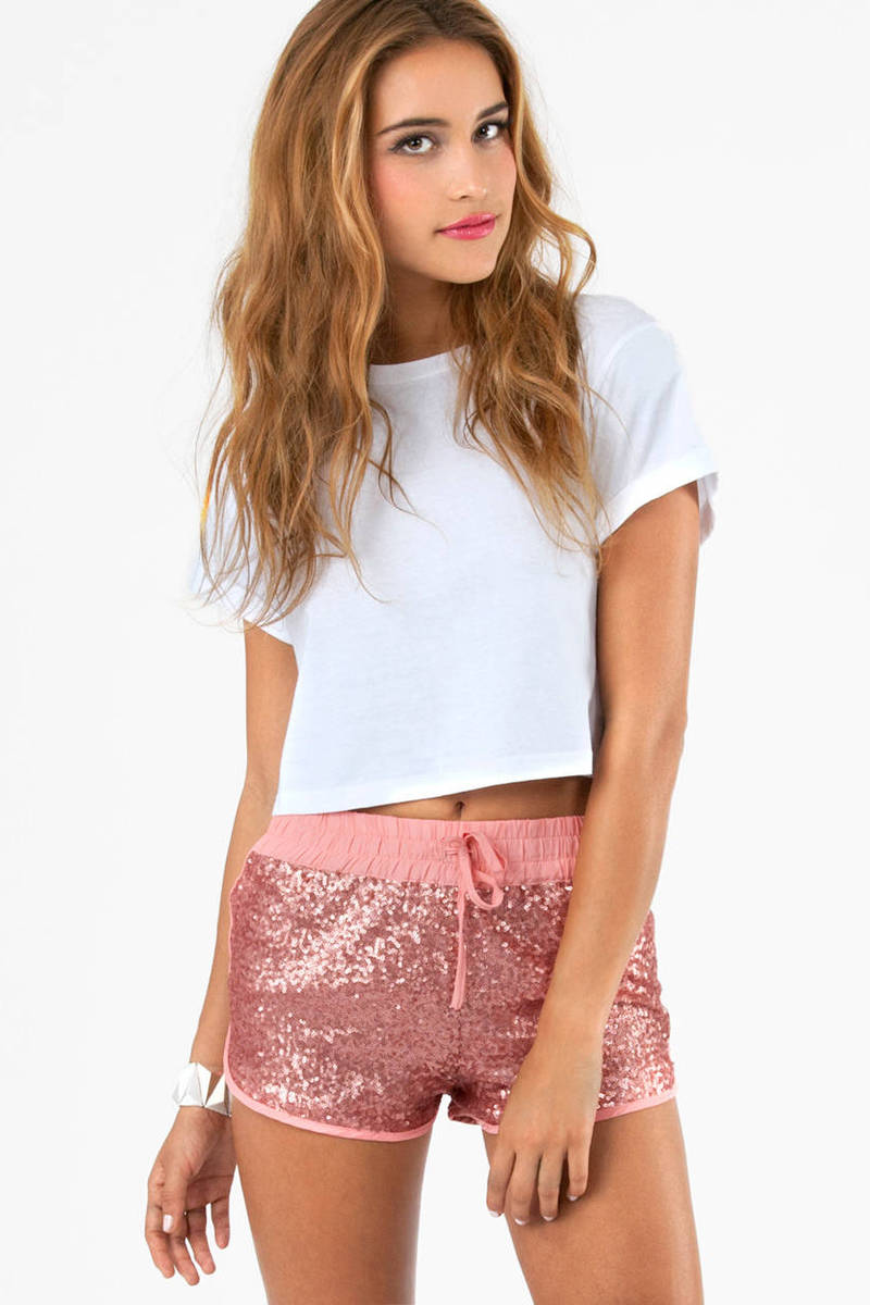 Sequin Derby Shorts