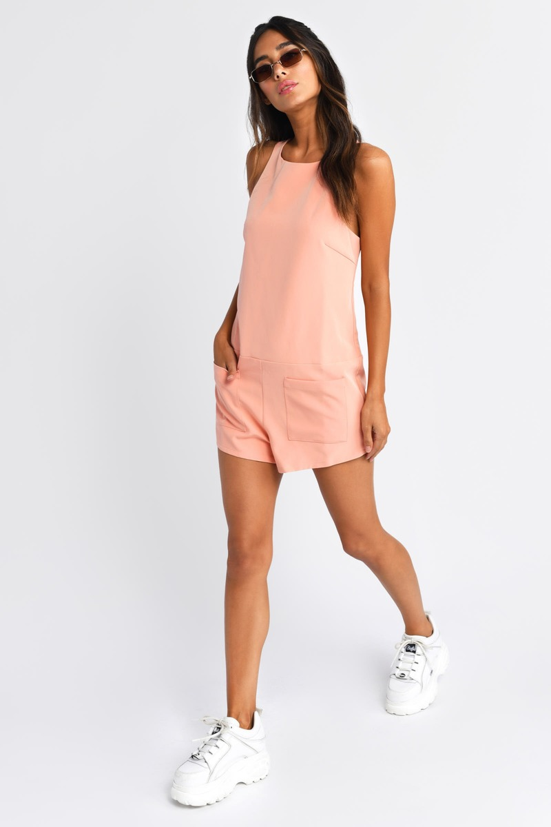 Streets Of London Peach Shift Romper