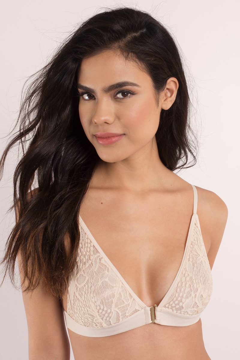 There For You Peach Lace Bralette